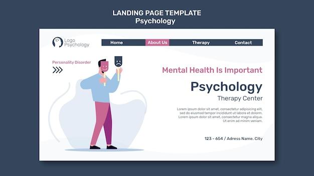Modèle de centre de thérapie de page de destination