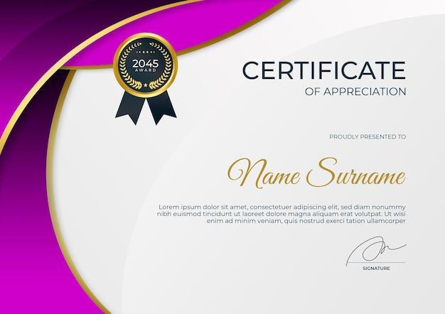 Modèle de certificat moderne simple pour le webinaire de formation en ligne d'entreprise