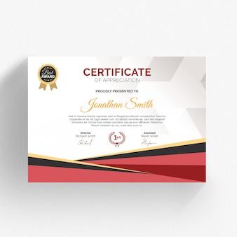 Modèle de certificat moderne