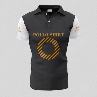 Modèle de chemise noir et blanc