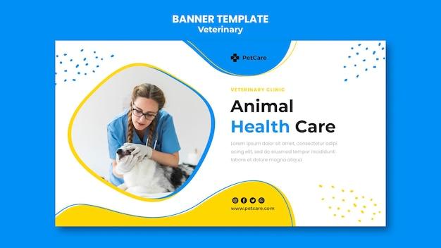 Modèle de clinique vétérinaire de bannière