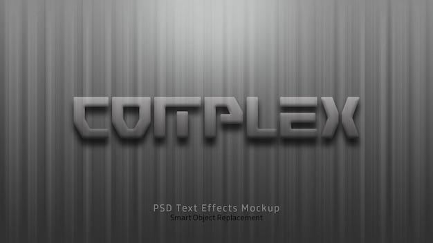 Modèle complexe d'effets de texte 3d