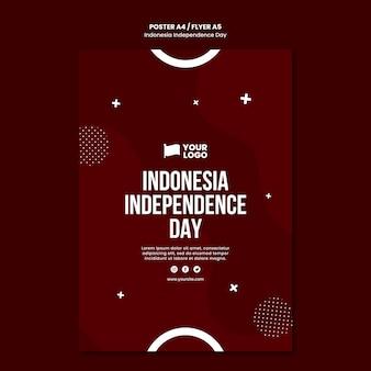 Modèle de concept d'affiche de la fête de l'indépendance de l'indonésie