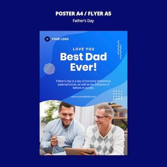 Modèle de concept de flyer pour la fête des pères