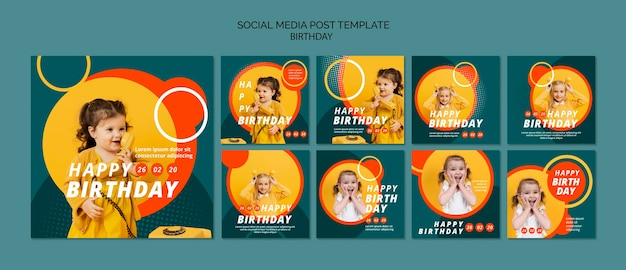 Modèle de concept de joyeux anniversaire
