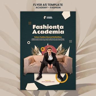 Modèle de conception d'affiche de l'académie de mode