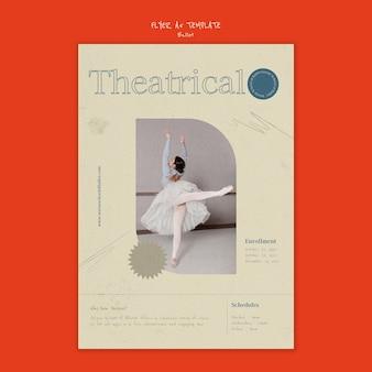 Modèle de conception d'affiche de ballet