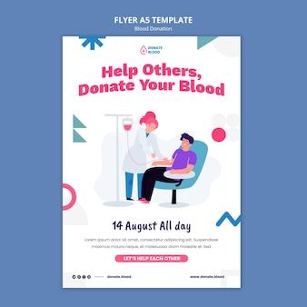 Modèle de conception d'affiche de don de sang