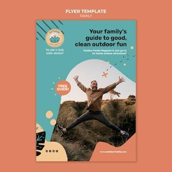 Modèle de conception d'affiche familiale pour enfants et parents