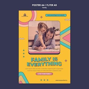 Modèle de conception d'affiche familiale