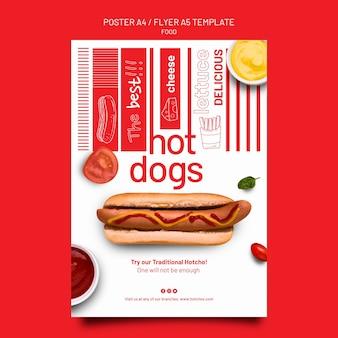 Modèle de conception d'affiche et de flyer de modèle de nourriture