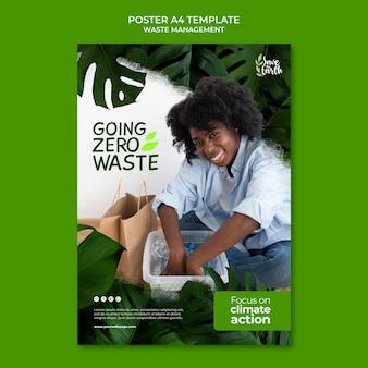 Modèle de conception d'affiche de gestion des déchets