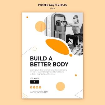 Modèle de conception d'affiche de gym