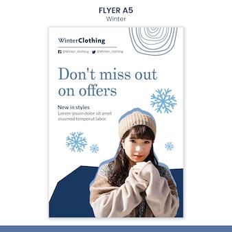 Modèle de conception d'affiche d'hiver