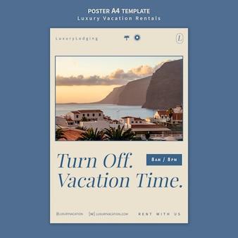 Modèle de conception d'affiche de location de vacances de luxe