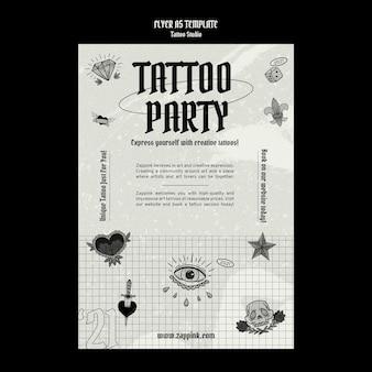 Modèle de conception d'affiche de studio de tatouage