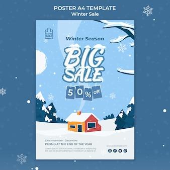 Modèle de conception d'affiche de vente d'hiver