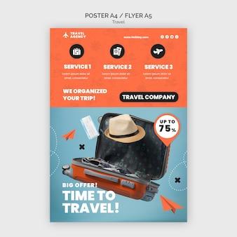 Modèle de conception d'affiche de voyage