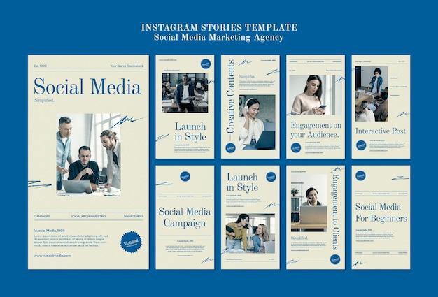 Modèle de conception d'agence de marketing sur les réseaux sociaux