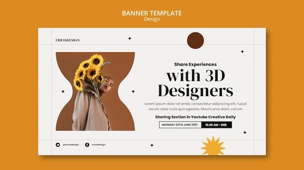 Modèle de conception de bannière de conception