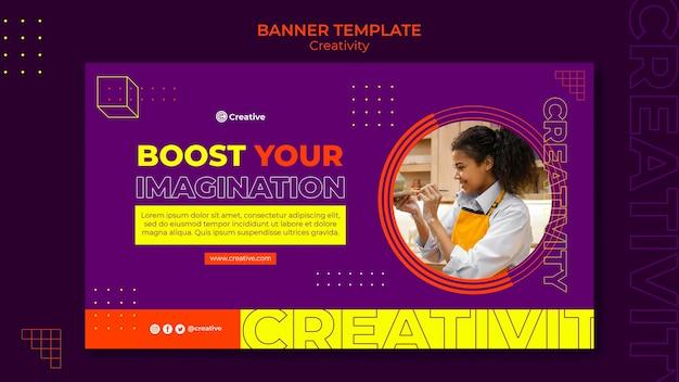 Modèle de conception de bannière créative et imaginative