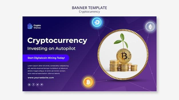 Modèle de conception de bannière de crypto-monnaie