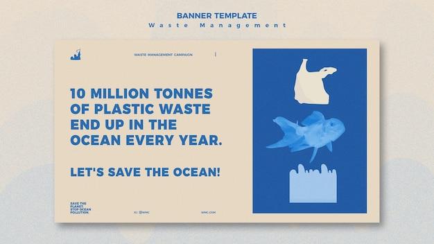 Modèle de conception de bannière de gestion des déchets