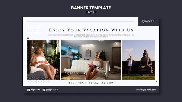 Modèle de conception de bannière d'hôtel