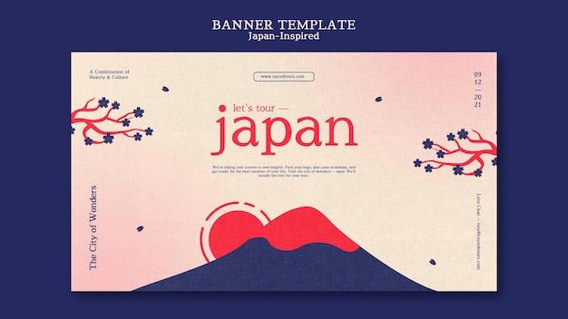 Modèle De Conception De Bannière Inspiré Du Japon Psd gratuit