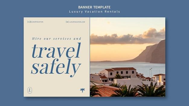 Modèle de conception de bannière de location de vacances de luxe