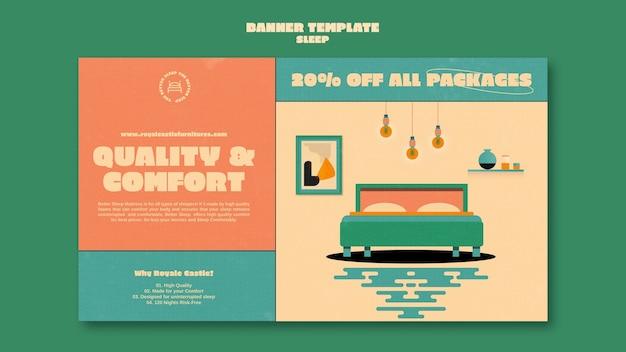 Modèle de conception de bannière de meubles de couchage