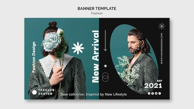 Modèle de conception de bannière de mode