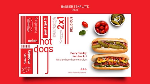 Modèle de conception de bannière de modèle de nourriture