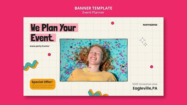 Modèle De Conception De Bannière De Planificateur D'événements Psd gratuit