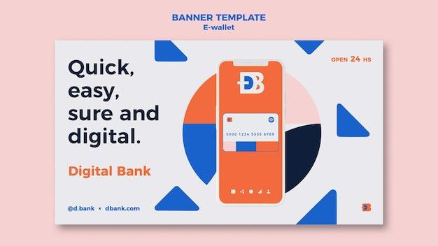 Modèle de conception de bannière de portefeuille électronique