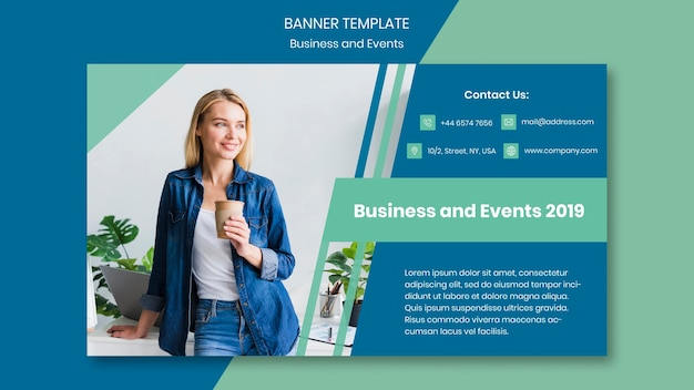 Modèle de conception de bannière pour un événement professionnel