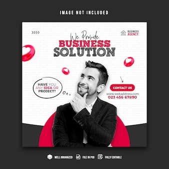 Modèle de conception de bannière de promotion commerciale et de médias sociaux d'entreprise