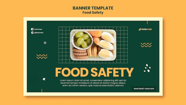 Modèle de conception de bannière de sécurité alimentaire