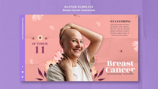 Modèle de conception de bannière de sensibilisation au cancer du sein