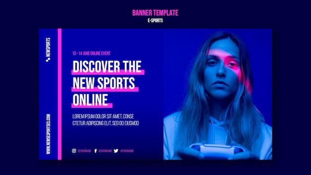 Modèle de conception de bannière de sport électronique