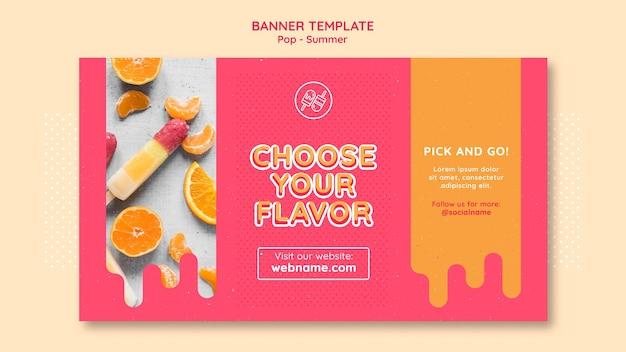 Modèle de conception de bannière de thème gratuit