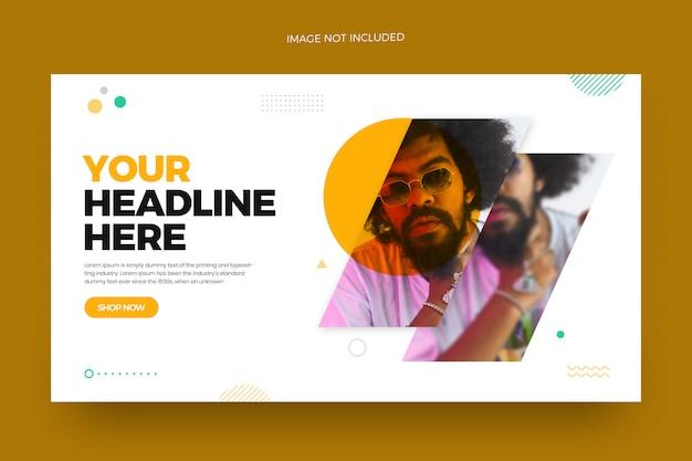 Modèle de conception de bannière web mode