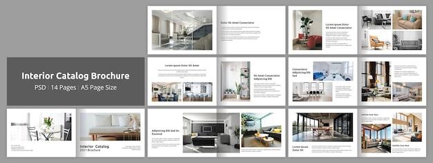Modèle de conception de brochure de catalogue intérieur