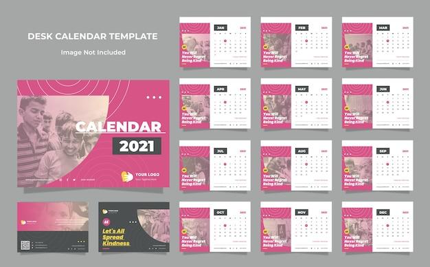 Modèle de conception de calendrier de bureau de la fondation