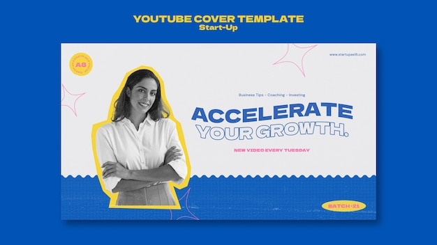 Modèle de conception de carte de couverture de démarrage youtube