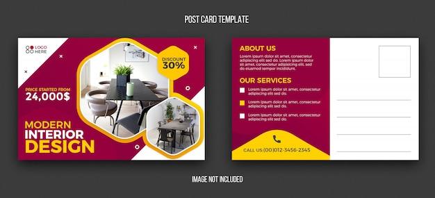Modèle de conception de carte postale immobilière