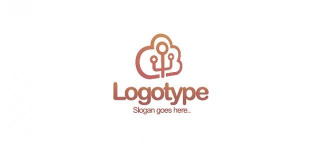 Modèle de conception cloud logo
