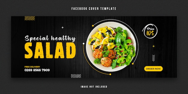 Modèle de conception de couverture facebook alimentaire