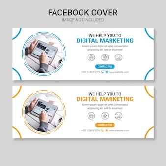 Modèle de conception de couverture facebook d'entreprise