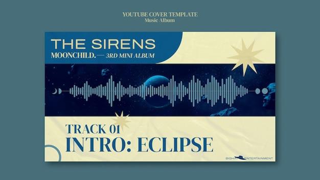 Modèle de conception de couverture youtube d'album de musique